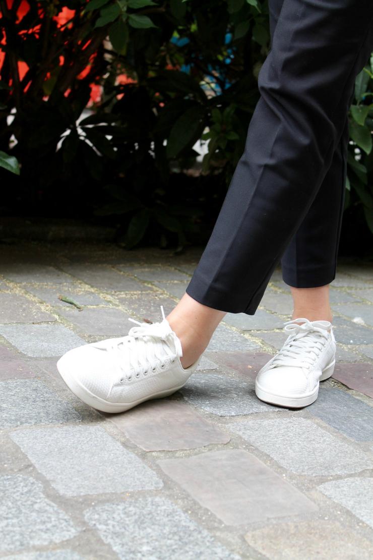 white snake print sneakers
