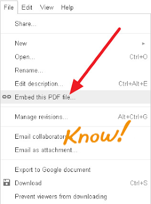 How to Embed  DOC, PDF, XLS Files Into Blogger