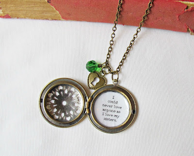 image little women quote locket sisters two cheeky monkeys handmade bookish literature