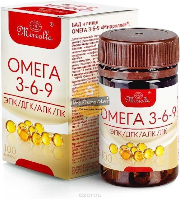 Thuốc Omega 3 6 9 Mirrolla của Nga mua từ Hồng Phượng Store