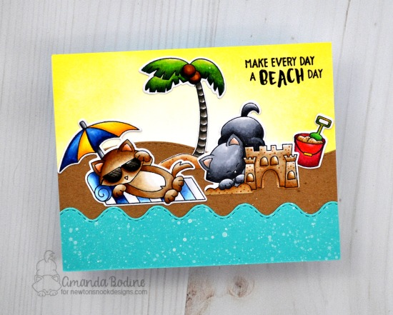 Make every day a beach day by Amanda features Aloha Newton, Newton's Summer Vacation, and Sea & Land Borders by Newton's Nook Designs; #newtonsnook