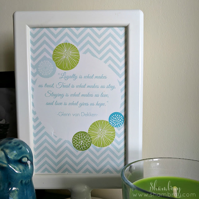 Loyalty and Love Quotes - including a free printable