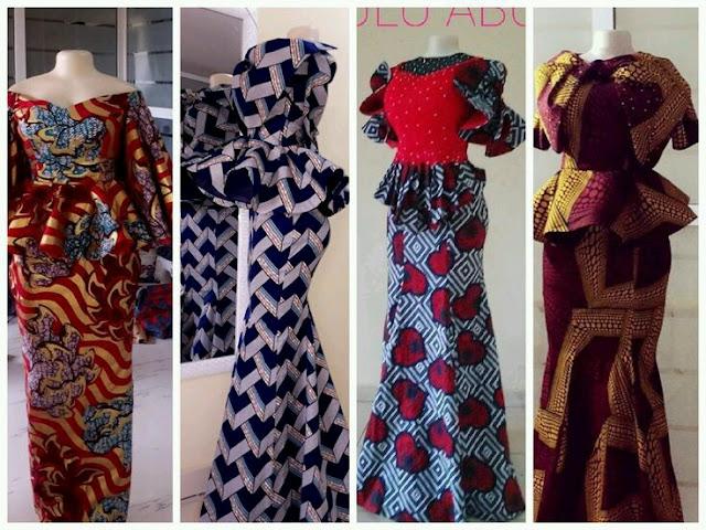 Ankara long skirt and blouse styles