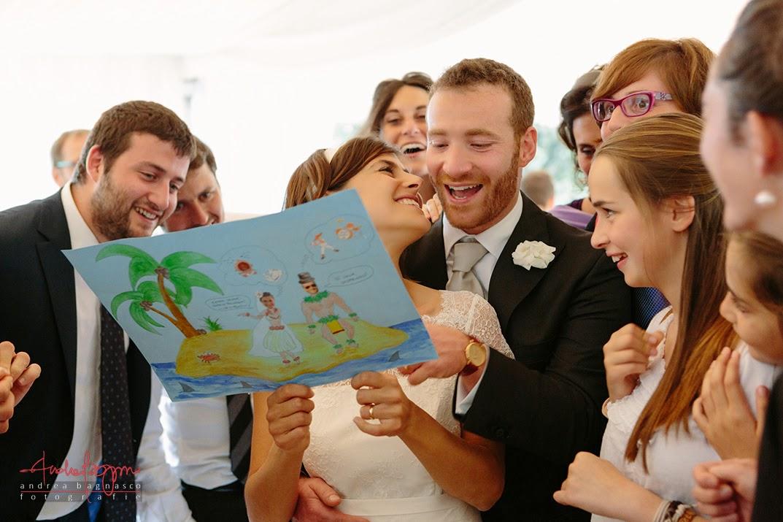 sposi e ospiti ricevimento matrimonio Genova Palazzo della Torre