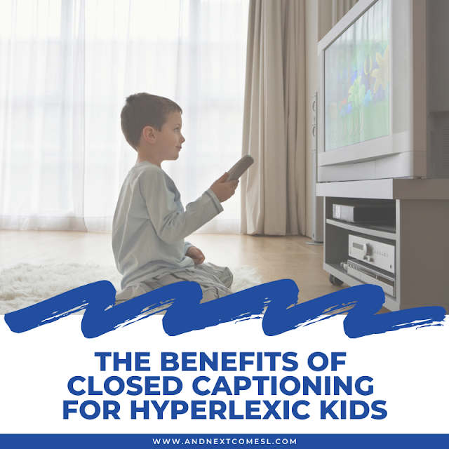 Benefits of closed captioning and reading subtitles for kids with hyperlexia