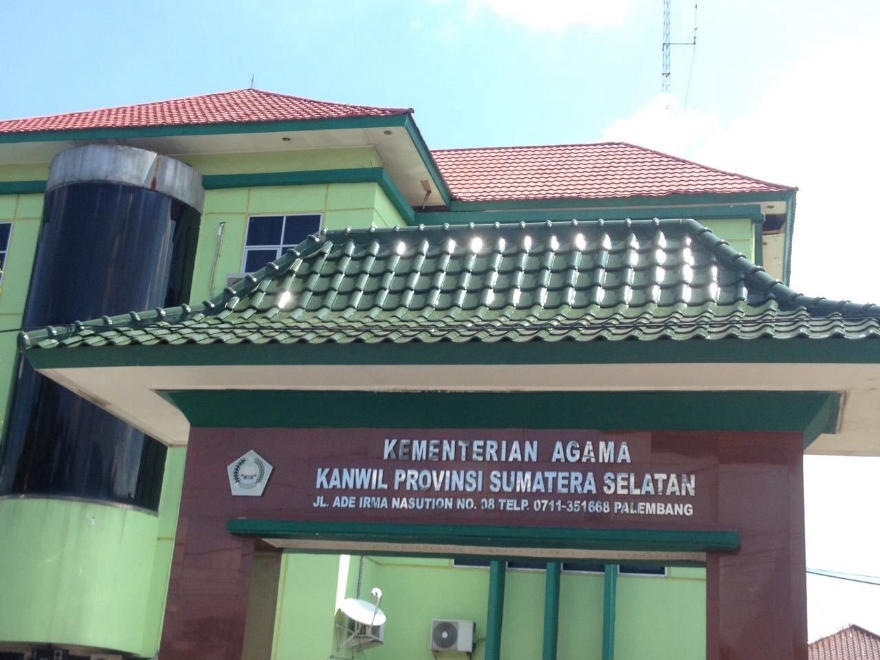 Alamat Lengkap dan Nomor Telepon Kementerian  Agama Se-Provinsi Sumatera Selatan