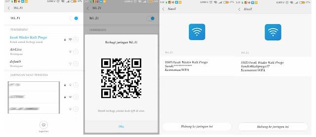 Melihat password WiFi yang terhubung di Android xiaomi