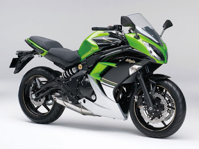 Kawasaki Ninja 400R green color