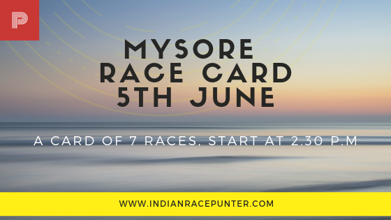 Mysore Race Cards, Trackeagle, Racingpulse