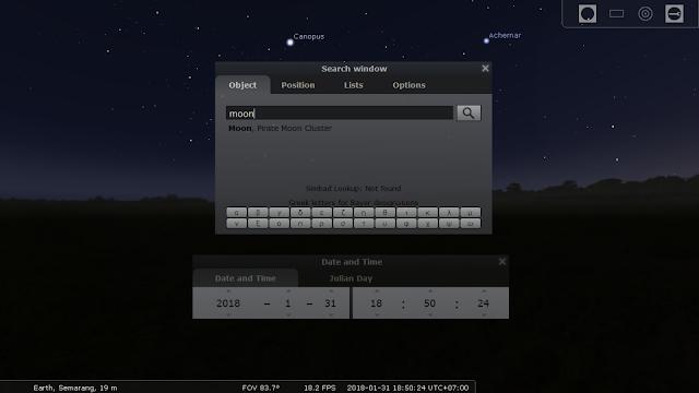 Simulasi gerhana stellarium perhitungan