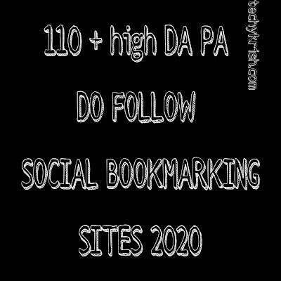 110+ High DA PA Social Book Marking Sites List 2020