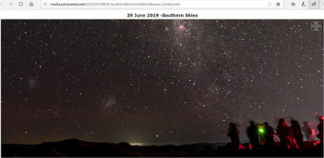 One view of the southern night sky from Observatorio Collowara in Chile (Source: OCA Dave Kodama)
