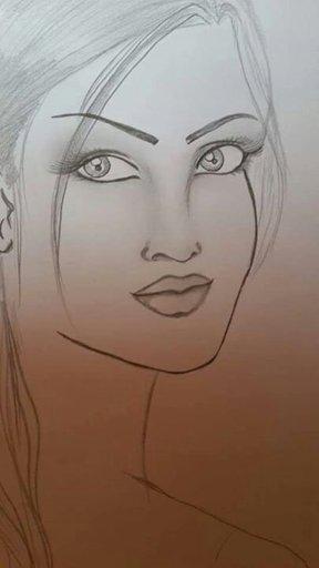 خلفيات رسم بنت جميلة وكيوت