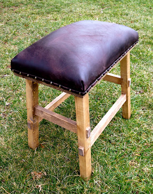 That S My Letter Diy Leather And Nailhead Stool