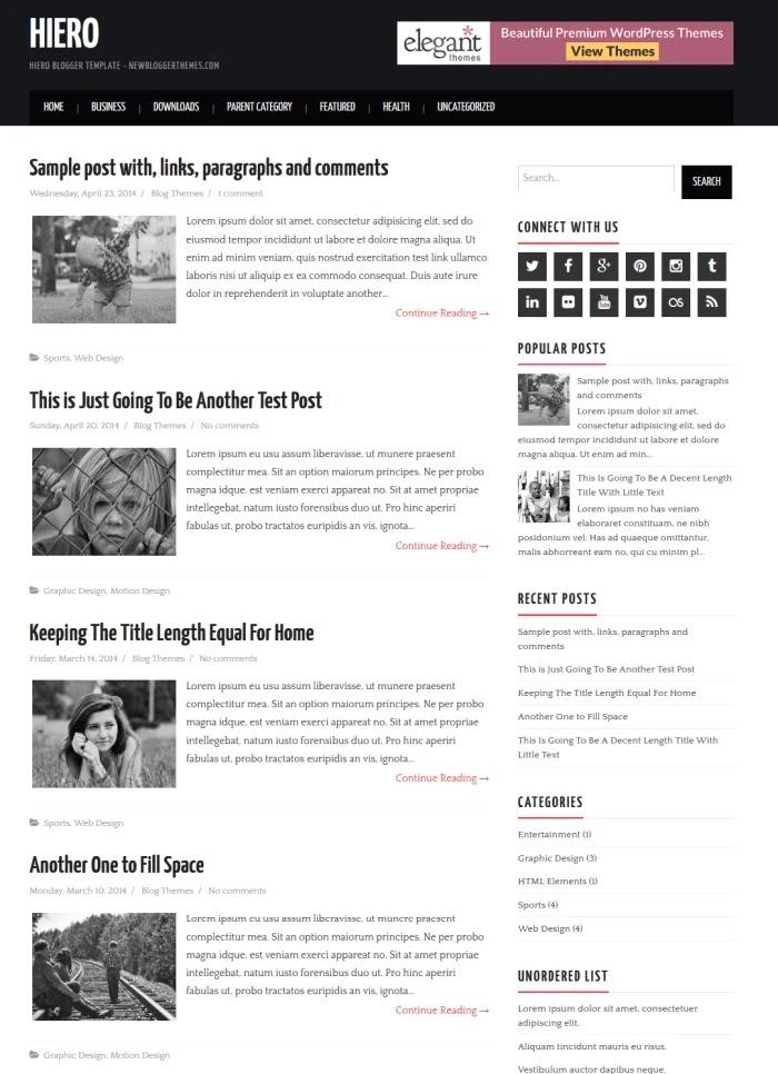Hiero Fast Loading Blogger Templates