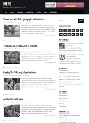 Hiero Blogger Template
