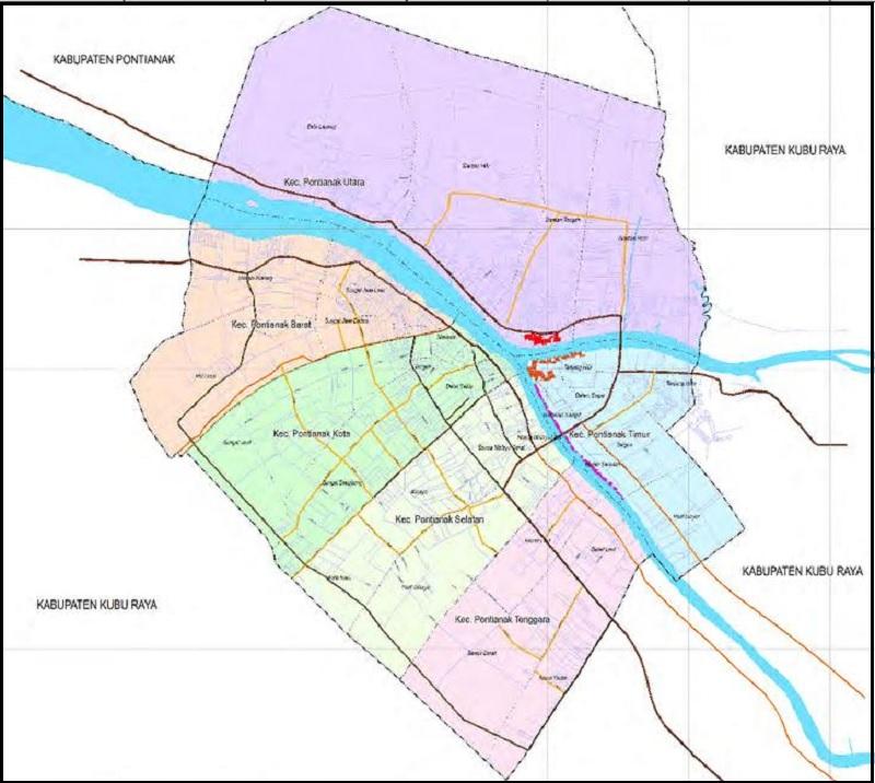 Peta Kota Pontianak HD Terbaru