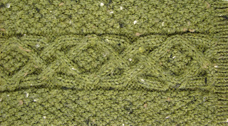 cabled, pine, mitts, fingerless, knit, knitting, pattern, green, tweed, cables