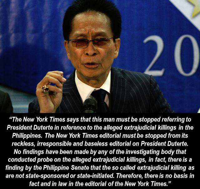 """New York Times  Latest Editorial Says: """"Duterte  Must Be sStopped"""". Have You Read it Yet?"""