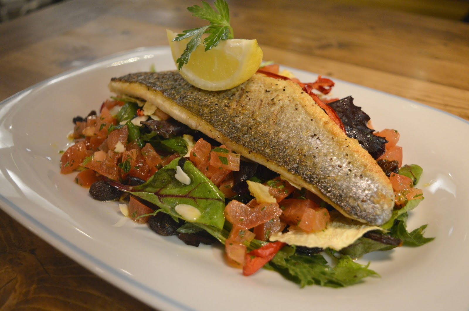 George's Great British Kitchen, Newcastle - Charcoal Grilled Sea Bass