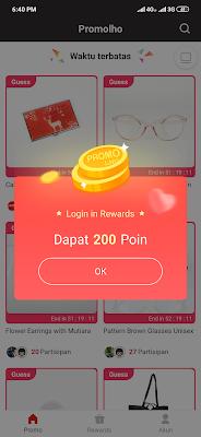 cara login aplikasi promolho android