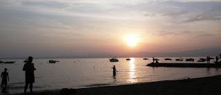 Anocheciendo en el Lago di Garda.