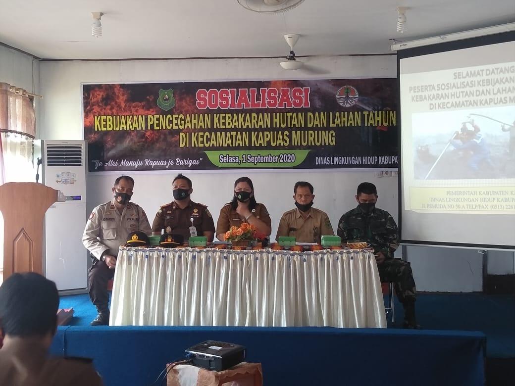 Wakapolsek Kapuas Murung Hadiri Kegiatan Sosialisasi Kebijakan Pencegahan Karhutla