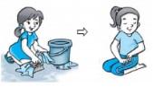 ilustrasi gerak tari mencuci baju