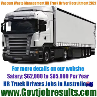 Vacuum Waste Management Pvt Ltd HR Truck Driver Recruitment 2021-22