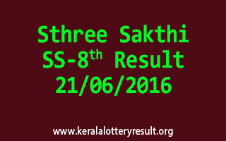 Sthree Sakthi Lottery SS 8 Results 21-6-2016