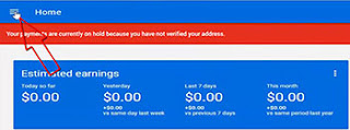 adsense account action bar