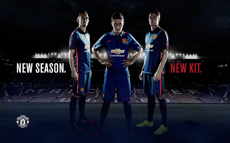 6836045cfed Manchester United 14-15 Home, Away and Third Kits - Footy Headlines