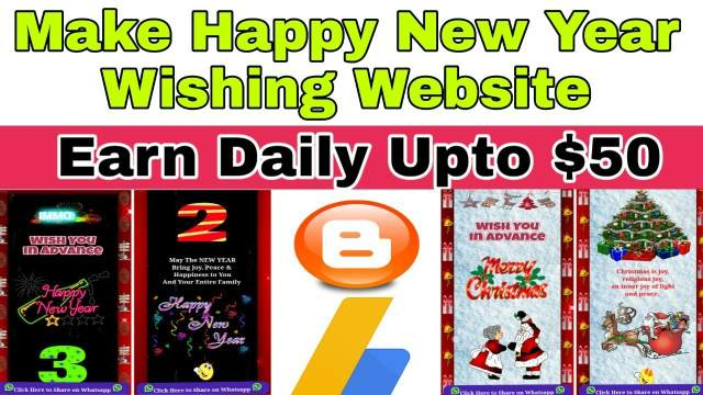 How to make Happy new year 2019 whatsapp wishing Website