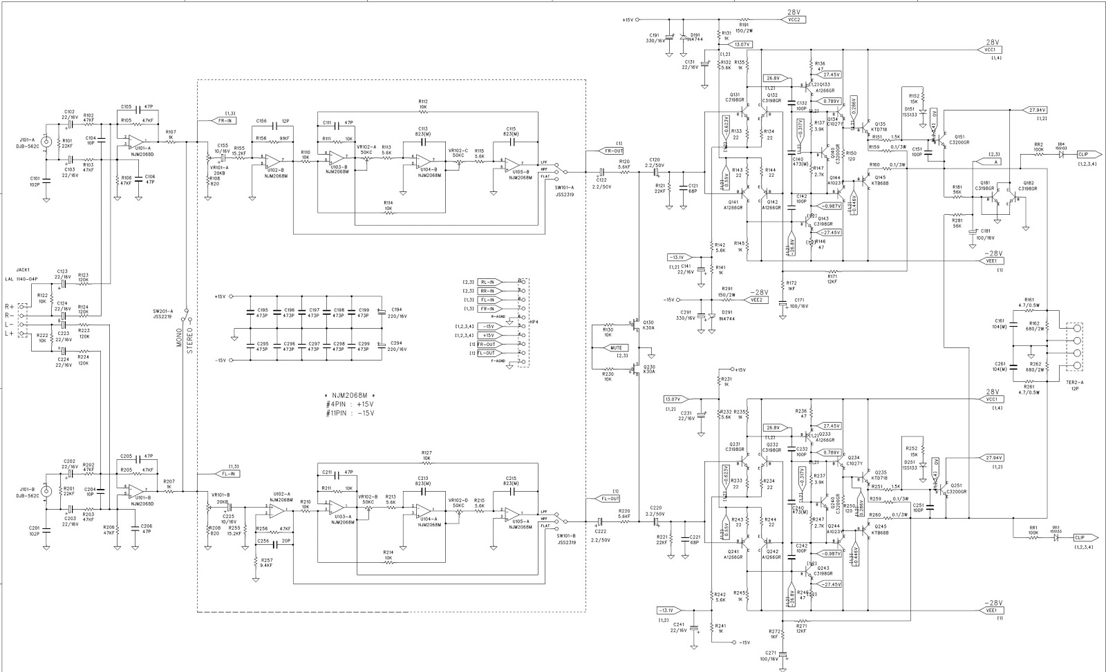 4 channel amp wiring diagram for 3 5 mm stereo plug infinity 5760a  circuit 6