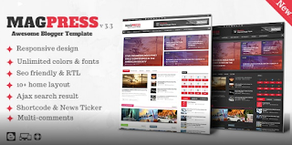 Magpress v3.3 – Magazine Responsive Blogger Template Free Download