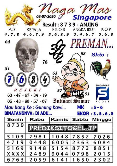 Syair Nagamas SGP Rabu 08 Juli 2020