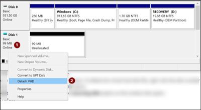 Làm cách nào để xóa Virtual Drive trong Windows 10?