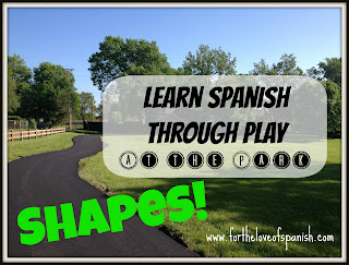 Learn Spanish through Play: AT THE PARK // Shapes! w/ FREE PRINTABLE