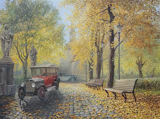 cuadros-vistas-otoño-bancas-realistas