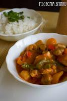 (Kurczak z warzywami po syczuańsku