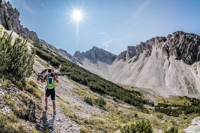 Aufstieg Reither Spitze Bikebergsteigen Mountainbike MTB