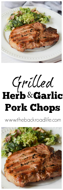 Grilled Herb and Garlic Pork Chops pinterest