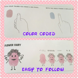 Fingerprint Princesses and Fairies sample instructions