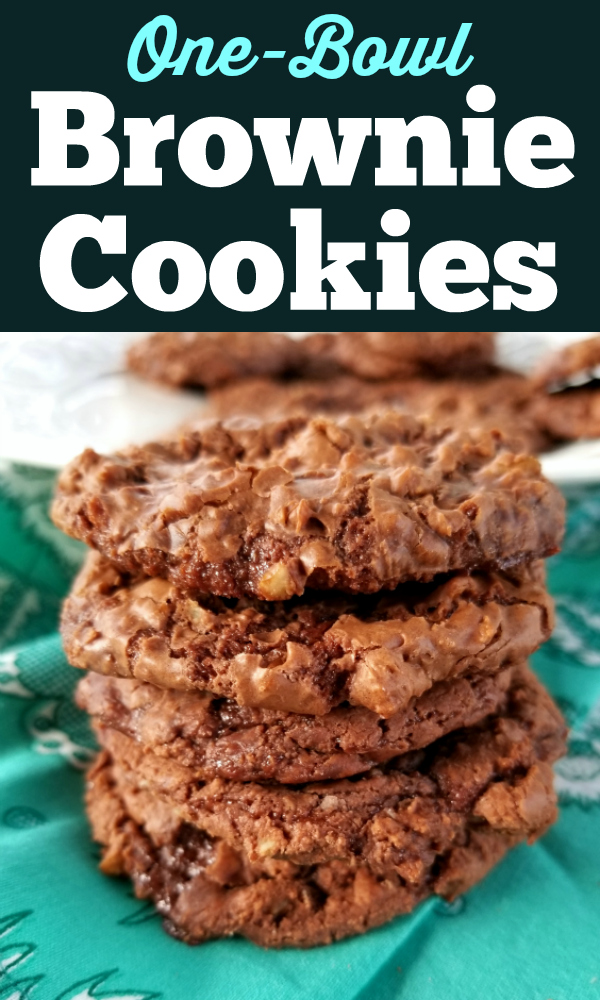 A super easy recipe for chewy, fudgy chocolate cookies made with Sweetened Condensed Milk and just a few other ingredients!