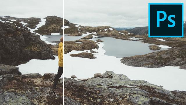 Удаление лишних объектов с фотографии в Фотошопе