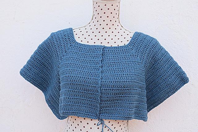 1 - Crochet Imagenen Canesú para chaqueta a crochet y ganchillo por Majovel Crochet