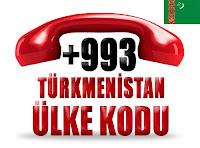 +993 Türkmenistan ülke telefon kodu