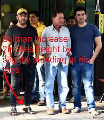 salman khan hight, सलमान खान कद, सलमान खान की ऊचाई,