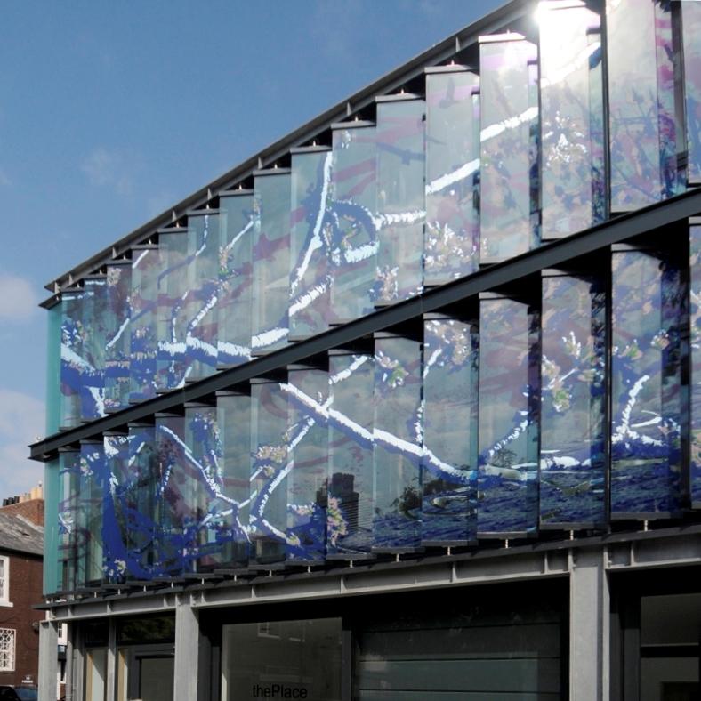 Glass Louver Facade : Levolux solar shading masterpiece creates