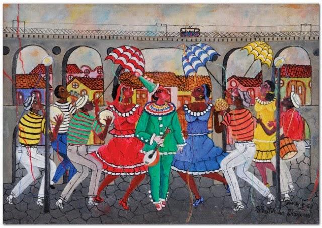 Frevo nos Arcos da Lapa - Heitor dos Prazeres ~ O pintor das favelas carioca